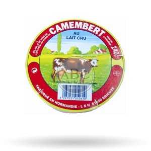 Camembert lait Cru 250Gr
